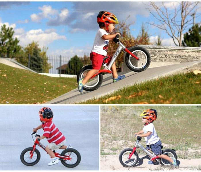 Hướng dẫn bé sử dụng xe đạp cân bằng